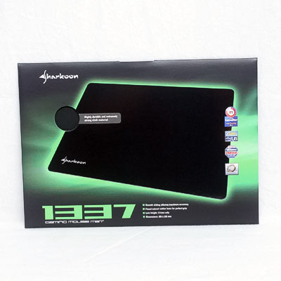 Mousepad Sharkoon 1337 Mat Black L