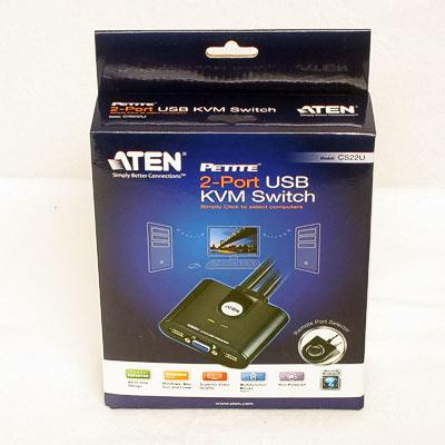 KVM Switch2fach autom.VGA/USB/Sound ATEN