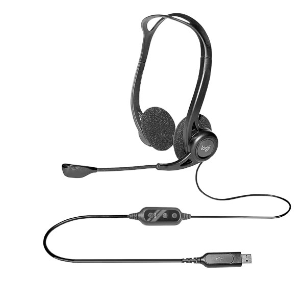 Headset Logitech PC 960 USB Stereo