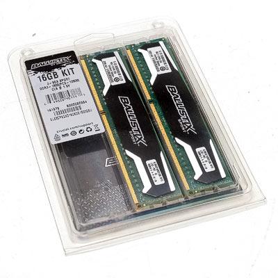 Speicher DDR3 16GB 1600/9 Kit Crucial Ba