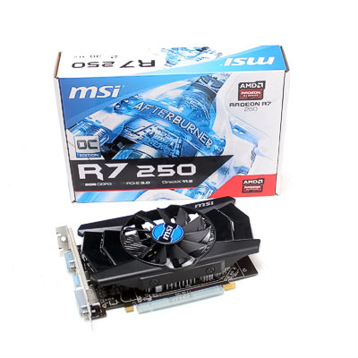Grafik PCIe AMD R7 250  2GB MSI OC   GD3