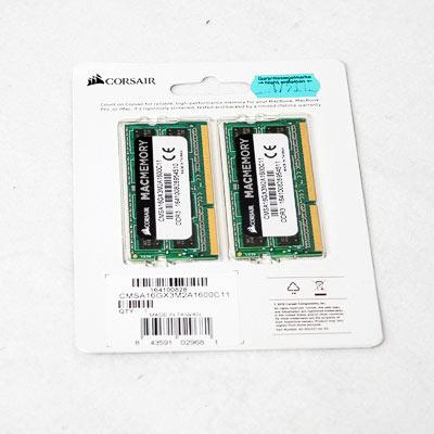 Speicher SODIMM DDR3 16GB PC1600 Corsair