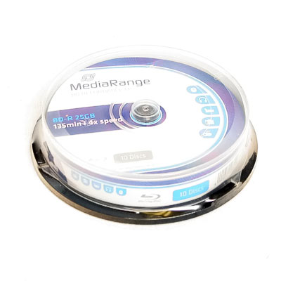Rohling BluRay BD-R 25GB 4x MediaR 10Sp