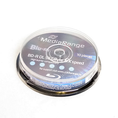 Rohling BluRay BD-R DL 50GB 6x MediaR 10