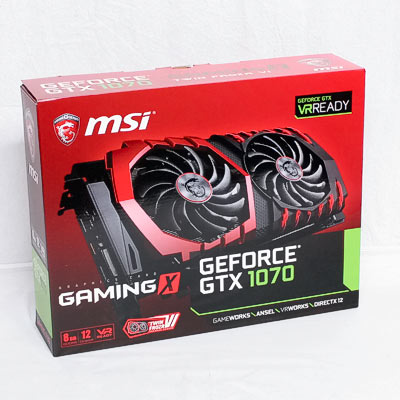 Grafik PCIe NVIDIA GTX1070 8GB MSI Gam.X