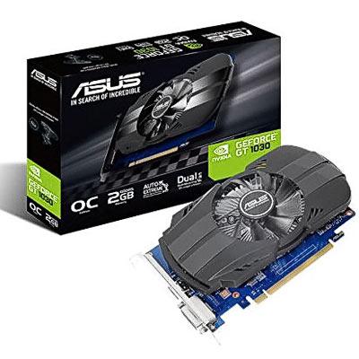 Grafik PCIe NVIDIA GT1030 2GB Asus Sil.