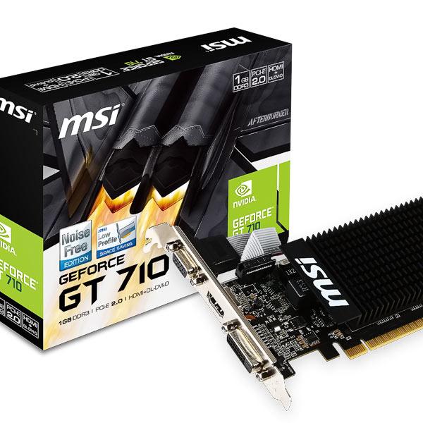 Grafik PCIe NVIDIA GT710 1GB MSI passiv