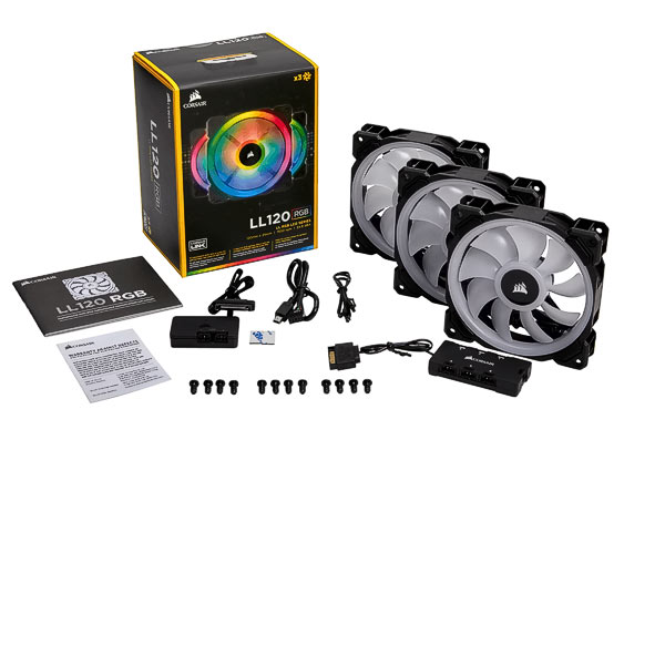LÜfter 120mm Corsair LL120 RGB Set 3Pack